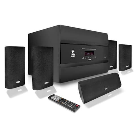 Pyle PT678HBA 400 Watts 5.1 Channel HDMI Home Theater System With Bluetooth Audio Playback - black