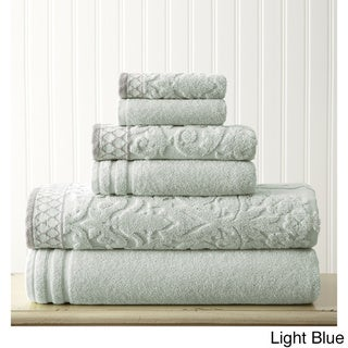 Amrapur Overseas Damask Jacquard 6-piece Embellished Border Towel Set