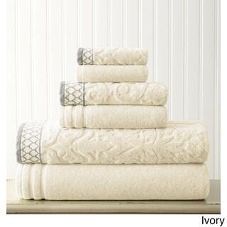 Amrapur Overseas Damask Jacquard 6-piece Embellished Border Towel Set