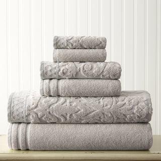 Amraupur Overseas Damask Jacquard 6-piece Embellished Border Towel Set
