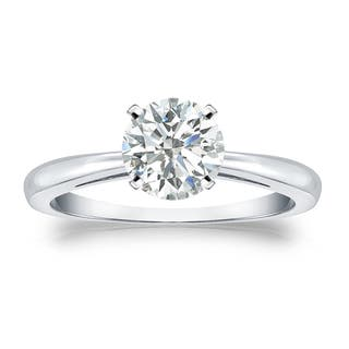 Auriya Platinum 1ct TDW Round-cut Diamond Solitaire Engagement Ring|https://ak1.ostkcdn.com/images/products/11470376/P18426714.jpg?impolicy=medium