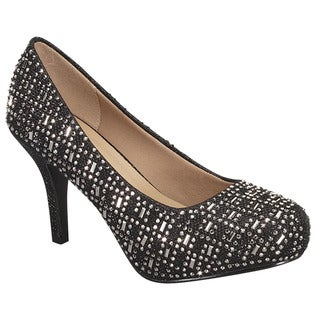 Beston GB28 Women's Glitter Rhinestone Slip-on Party Heels