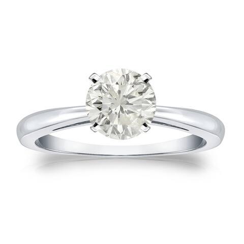 Auriya Platinum 1ctw Round Solitaire Diamond Engagement Ring