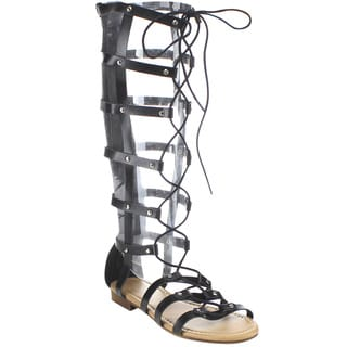 Beston GB33 Women's Knee High Gladiator Sandals