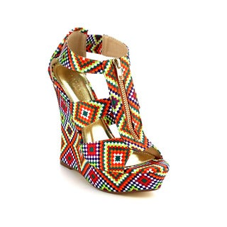 Beston DB19 Women's Peep Toe Wedges Sandals