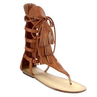 Beston DA121 Women's Fringed Gladiator Sandal