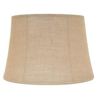 Designer Khaki Finish Linen Bell Shade