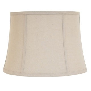 Designer Natural Finish Linen Bell Shade