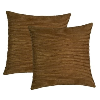 Raised Ribbing 17-inch Throw Pillows (Set of 2)