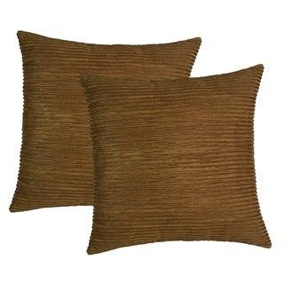 Raised Ribbing 17-inch Throw Pillows (Set of 2)