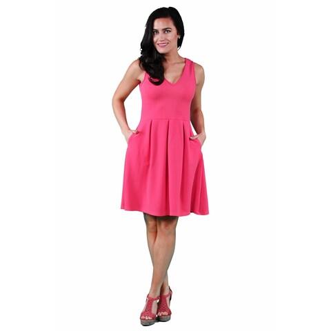 24/7 Comfort Apparel Women's Sleeveless A-line Dress