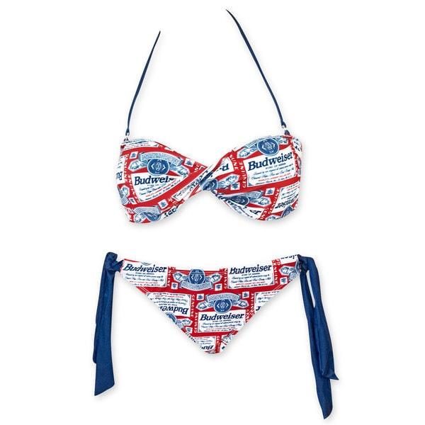 c1a03145b5 Shop Budweiser Women's Twist Top Bikini - Free Shipping Today - Overstock -  11470499