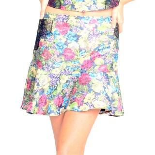 Sara Boo Floral Print Skirt