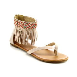 Beston DB58 Womens's Beaded Ankle Strap Sandals