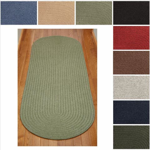 Rhody Rug Woolux Wool Runner Braided Rug (2' x 6') - 2' x 6' Runner