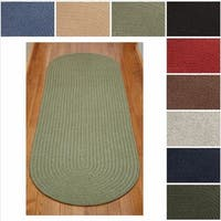 Rhody Rug Woolux Braided Wool Runner Rug (2' x 6')