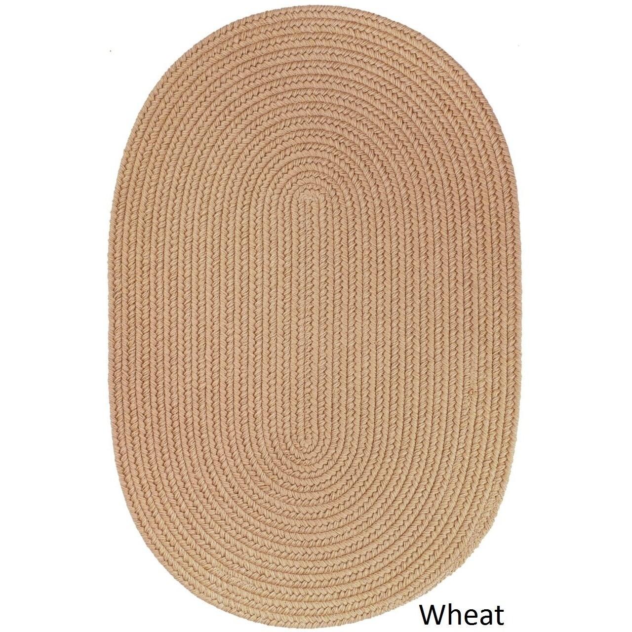 Used Oval Braided Rugs: Rhody Rug Woolux Wool Oval Braided Rug (4' X 6')