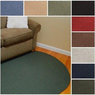 Rhody Rug Woolux Wool Oval Braided Rug (5' x 8')
