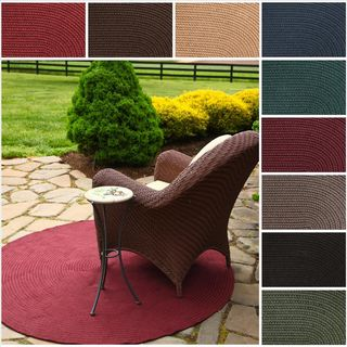Rhody Rug Madeira Indoor/ Outdoor Braided Rug (10' Round) - 10' x 10'