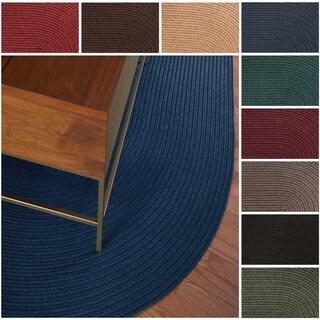 Rhody Rug Madeira Indoor/ Outdoor Oval Braided Rug (8' x 11')