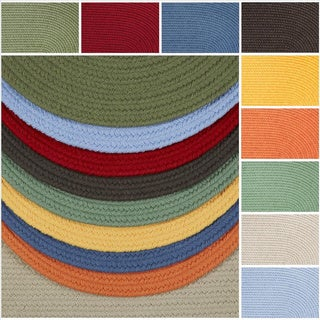 Rhody Rug Venice Indoor / Outdoor Oval Braided Rug (7' x 9')