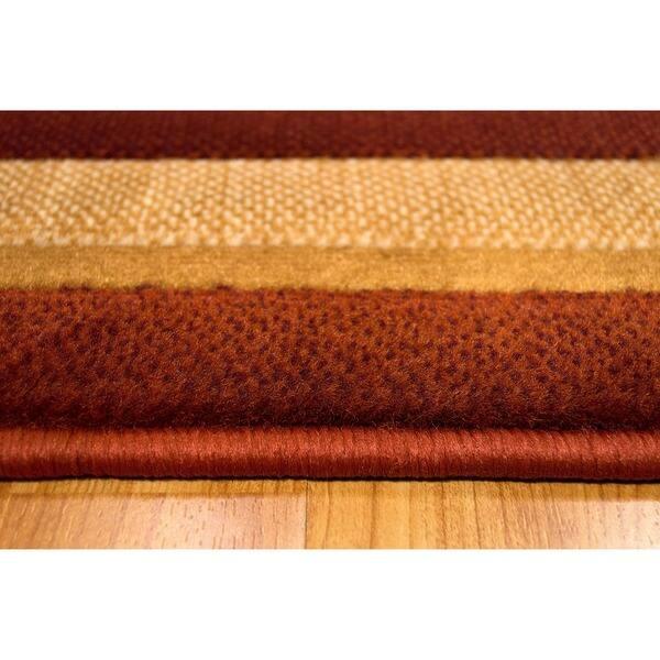 Rust High Density Soft Olefin Yarn Rug