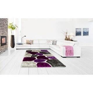 Lyke Home Hand Tufted Lilac Silkbright Yarn Rug (5' x 7')