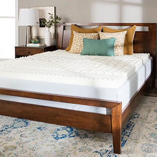 Splendorest 4-inch 5 Zone Memory Foam Mattress Topper - WHITE
