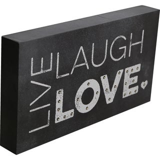 Order Wood Marquee Plaque with LED Lights- Live Laugh Love