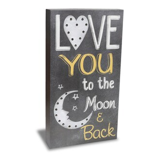 Order Wood Marquee Plaque with LED Lights- Love You To The Moon and Back