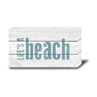 Order Wood Marquee Plaque with LED Lights-Life's a Beach