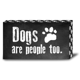 Order Wood Marquee Plaque with LED Lights- Dogs are People Too