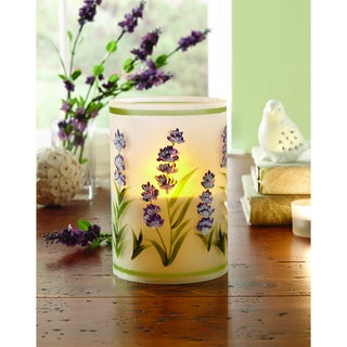 Order Glass LED Lavendar Candle with Daily Timer