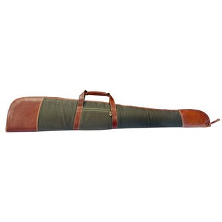 Canyon Outback Coyote Ridge Canyon 53-Inch Leather and Canvas Rifle Case