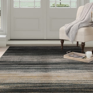 Windsor Home Opus Dark Abstract Stripes Area Rug (8' x 10')