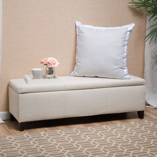 Lucinda Fabric Storage Ottoman Bench by Christopher Knight Home