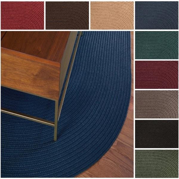 Rhody Rug Madeira Indoor/ Outdoor Oval Braided Rug (10' x 13') - 10' x 13'