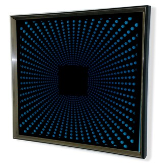 Designart Contemporary Black Tinted Mirror Framed 3D Acrylic Mirror Art