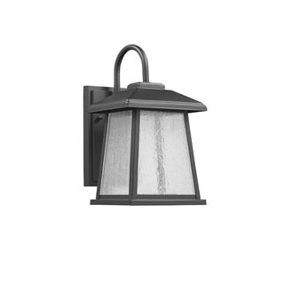 Chloe Transitional 1-light Textured Black LED Outdoor Wall Lantern