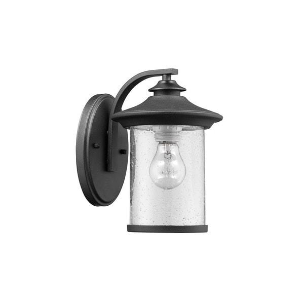 Chloe Transitional 1-light Textured Black Outdoor Wall Lantern