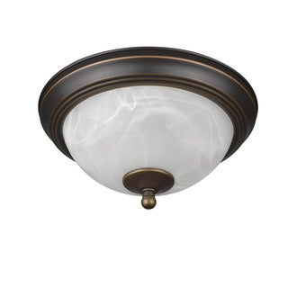Chloe Transitional 2-light Bronze Flush Mount