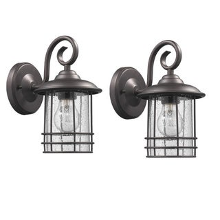 Chloe Transitional 1-light Oil Rubbed Bronze Outdoor Wall Lantern 2-pack