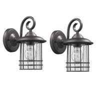 Chloe Oil Rubbed Bronze Single Light Outdoor Wall Lantern (Set of 2)
