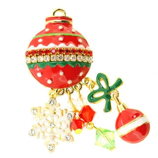 Christmas Tree Ornament Pin Brooch