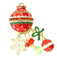 Christmas Tree Ornament Pin Brooch