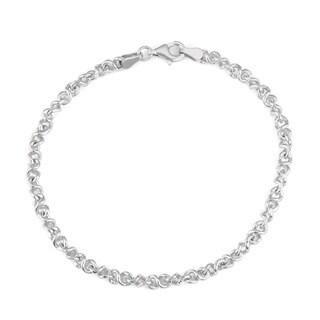 La Preciosa Sterling Silver 7-inch Infinity Chain Bracelet