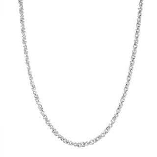 La Preciosa Sterling Silver 17-inch Infinity Chain Necklace
