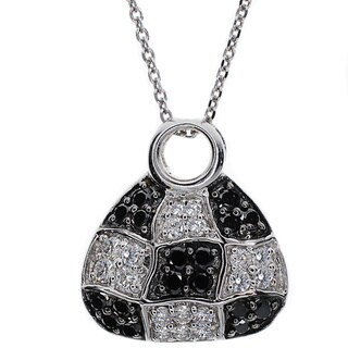 Kabella 18k White Gold 3/4ct TDW Diamond Accent Purse Pendant (G-H, SI1-SI2)