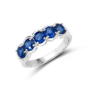 Malaika Sterling Silver 1 7/8ct TGW Kyanite Ring