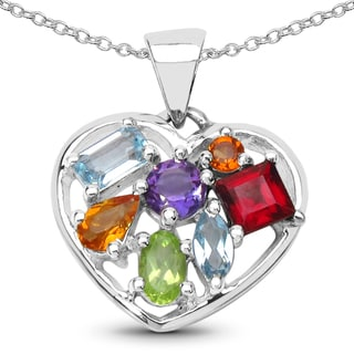 Link to Malaika 1.78 Carat Genuine Multi .925 Sterling Silver Pendant Similar Items in Necklaces